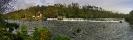 Panorámica da presa e couto de Ximonde no río Ulla.